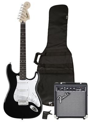 """Squier by Fender """"Stop Dreaming, Start Playing"""" Set (Affinity Series Strat)"""