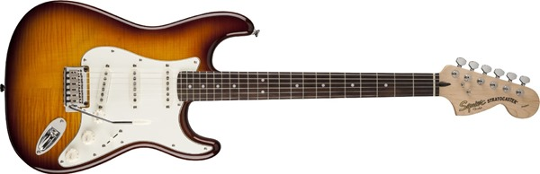 Squier by Fender Stratocaster, FMT, Amber