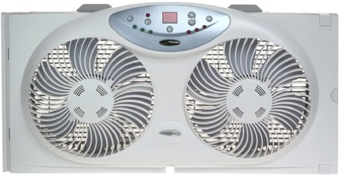 Twin Window Fan with Remote Control