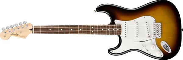 Fender Standard Stratocaster, Left Handed, Rosewood Fingerboard - Brown Sunburst