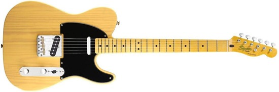 Squier by Fender Classic Vibe 50's Telecaster Electric Guitar, Butterscotch Blonde