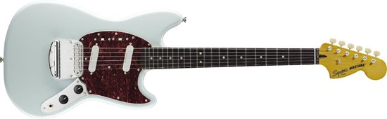 Squier by Fender Vintage Modified Mustang Electric Guitar, Rosewood Fingerboard, Sonic Blue