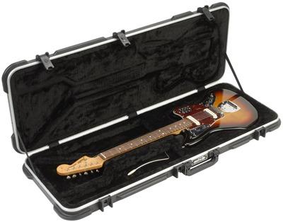 SKB Jaguar/Jazzmaster Type Shaped Hardshell Case TSA Latch, Over-Molded Handle