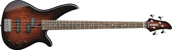 Yamaha RBX170EW TBS Electric Bass with Exotic Wood Top - Tobacco Sunburst Finish