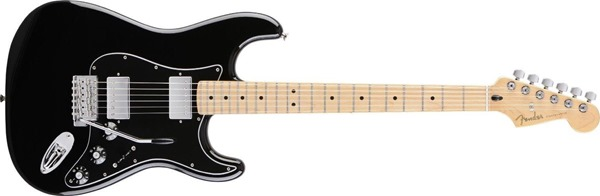 Fender Blacktop Stratocaster HH, Maple Fingerboard - Black