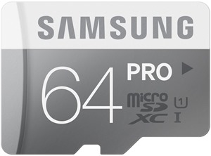 Samsung 64GB PRO Class 10 Micro SDXC up to 90MB/s with Adapater (MB-MG64DA/AM)