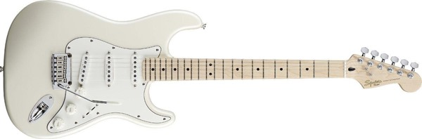Squier by Fender Deluxe Stratocaster Maple Neck, Pearl White Metallic
