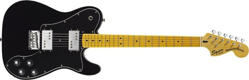 Squier by Fender Vintage Modified Telecaster Deluxe Electric Guitar, Maple Fingerboard, Black