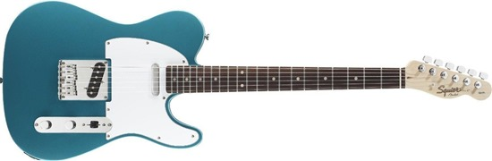 Squier by Fender Affinity Telecaster Electric Guitar, Rosewood Fingerboard, Lake Placid Blue