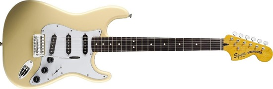 Squier by Fender Vintage Modified 70's Stratocaster Electric Guitar, Rosewood fingerboard, Vintage White