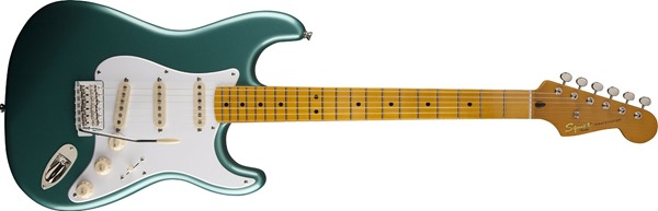 Squier by Fender Classic Vibe 303000546 50's Strat Solid-Body Electric Guitar, Green