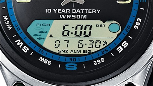 Casio AW-82 digital display