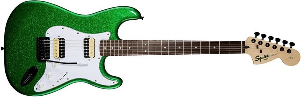 Squier Affinity Strat in Candy Green
