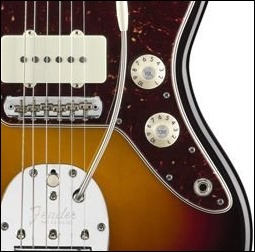 """Fender American Vintage '65 Jazzmaster with """"wrong"""" knobs"""