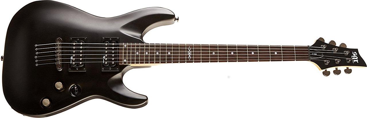 C-1 SGR by Schecter Beginner Electric Guitar - Midnight Satin Black