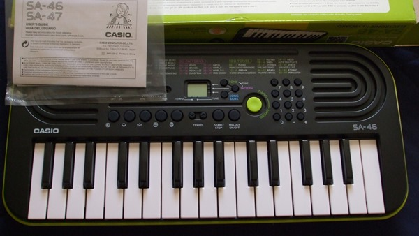Casio SA-46 unboxed