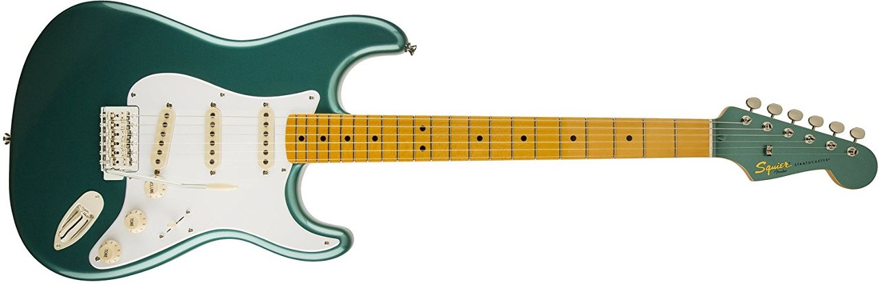 Fender Squier Classic Vibe 50's Stratocaster Electric Guitar - Sherwood Green Metallic - Maple Fingerboard