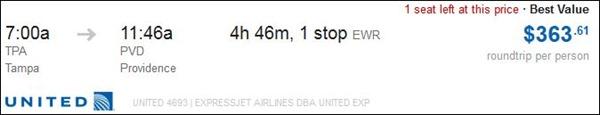 Plane Ticket Cost