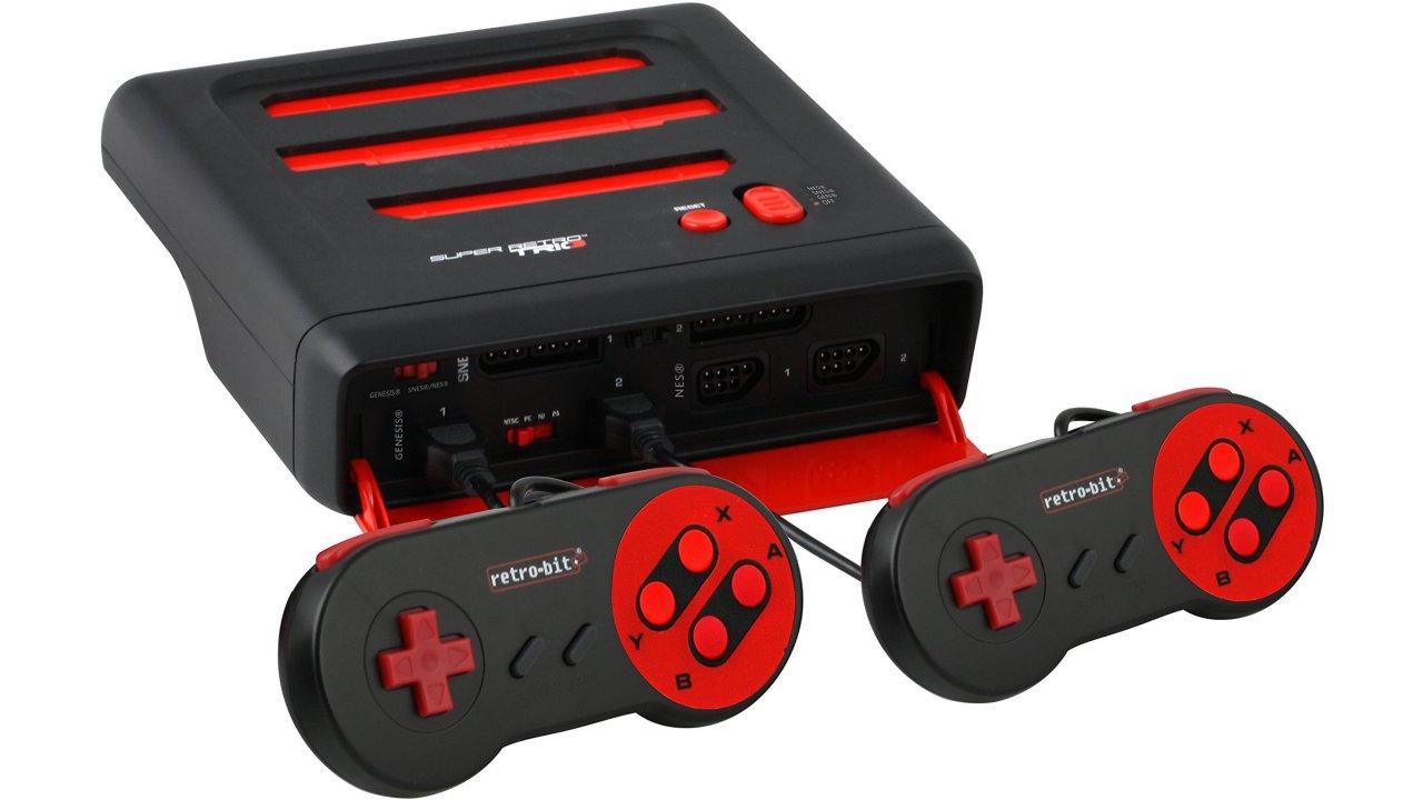 Retro-Bit Super RetroTRIO Console NES/SNES/Genesis 3-In-1 System