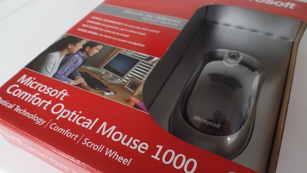 Microsoft Comfort Optical Mouse 1000 in box