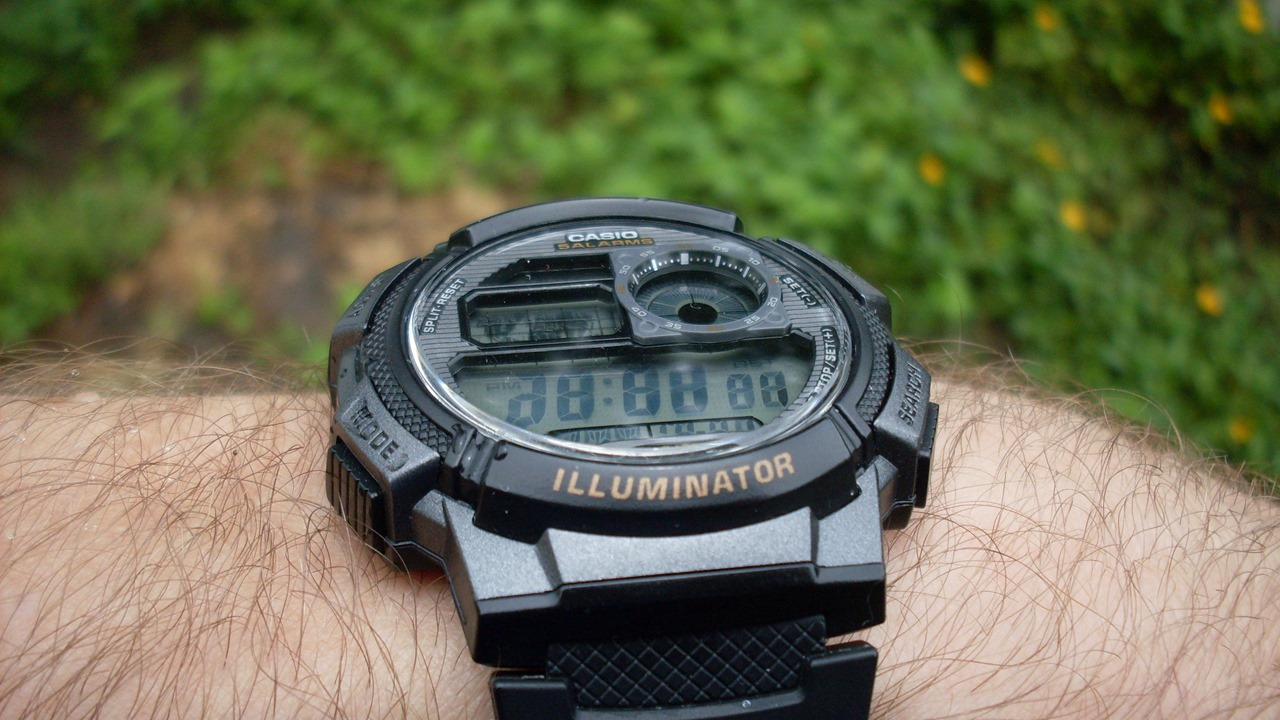 Casio AE1000W tilted back