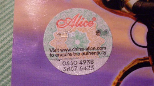 authenticity number