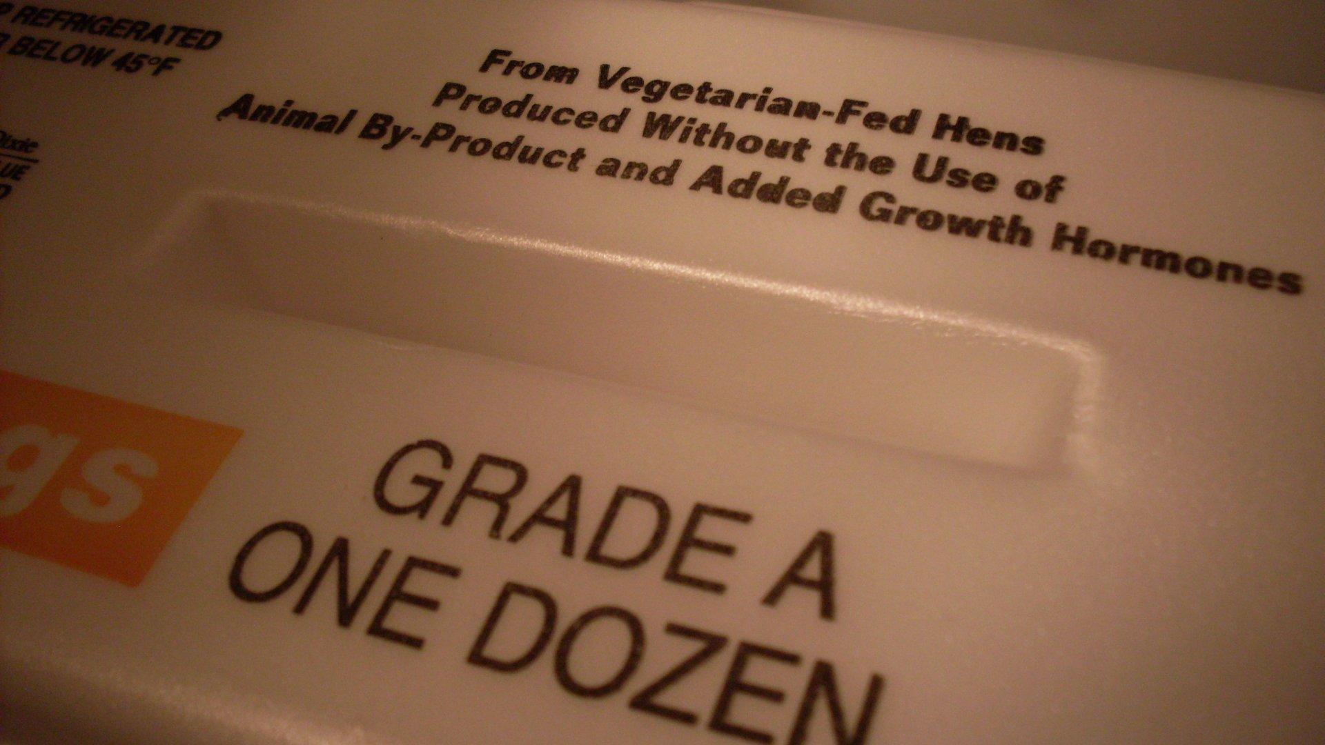 1 dozen growth hormone-free eggs