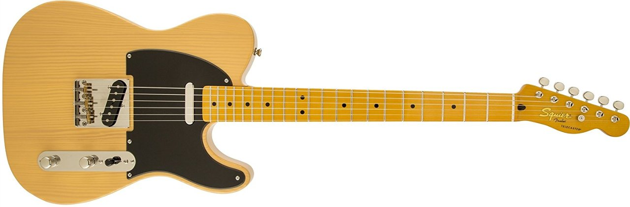 Squier by Fender 303027550 Classic Vibe 50's Telecaster Electric Guitar - Butterscotch Blonde - Maple Fingerboard