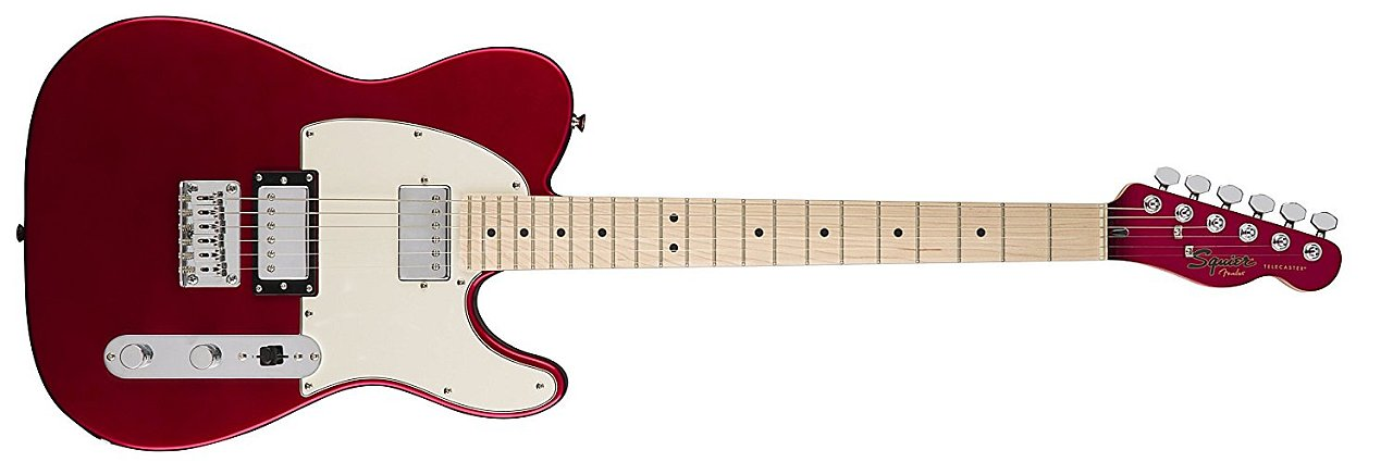Squier by Fender Contemporary Telecaster Electric Guitar - HH - Maple Fingerboard - Dark Metallic Red