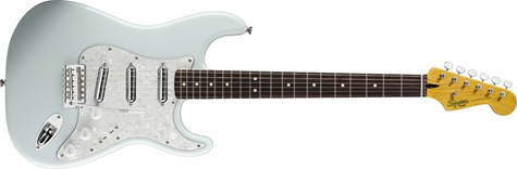 Squier Surf Stratocaster in Sonic Blue