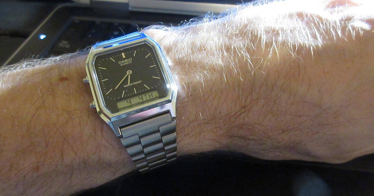 Casio AQ230 on wrist