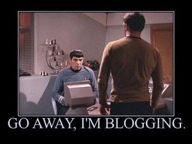GO AWAY, I'M BLOGGING