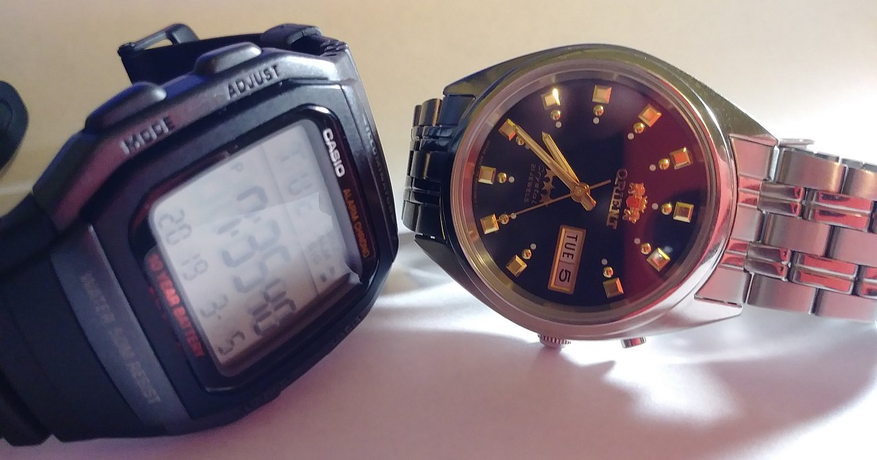 Casio W96H and Orient Tristar