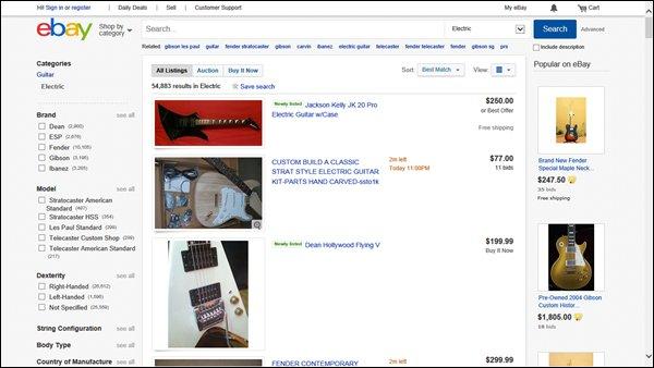 eBay electric guitars