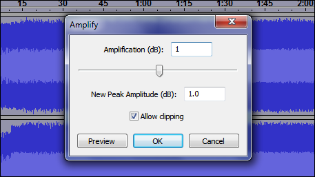 Amplify with clipping