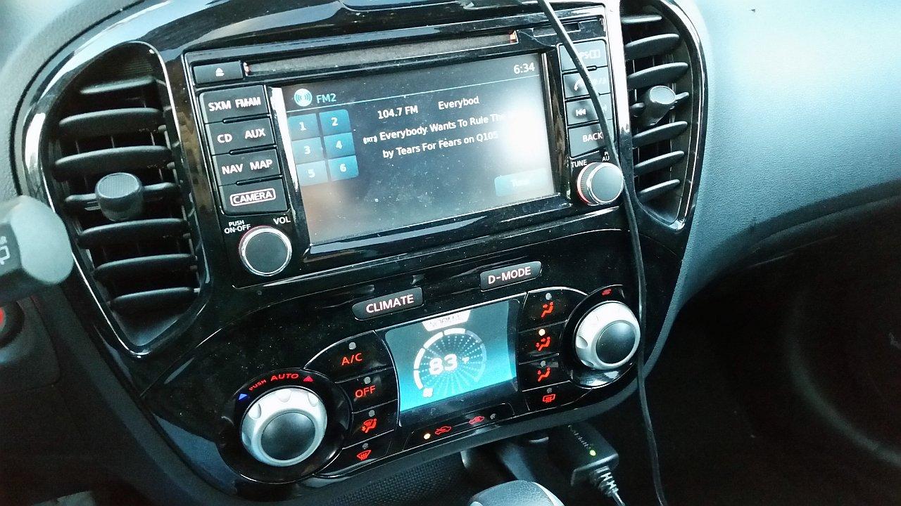 Nissan Juke HVAC controls