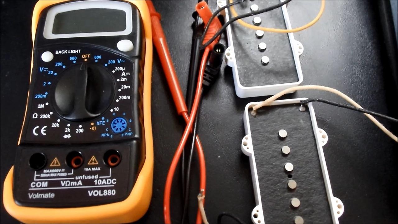 Multimeter and Jazzmaster pickups