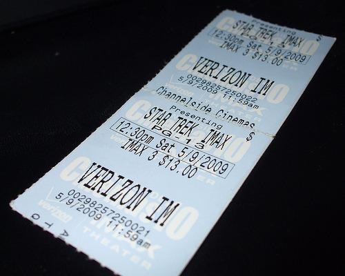 star trek imax movie ticket