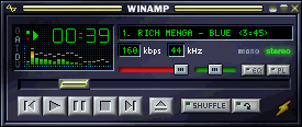WinAMP v2.5e - the last version that works in Windows 95