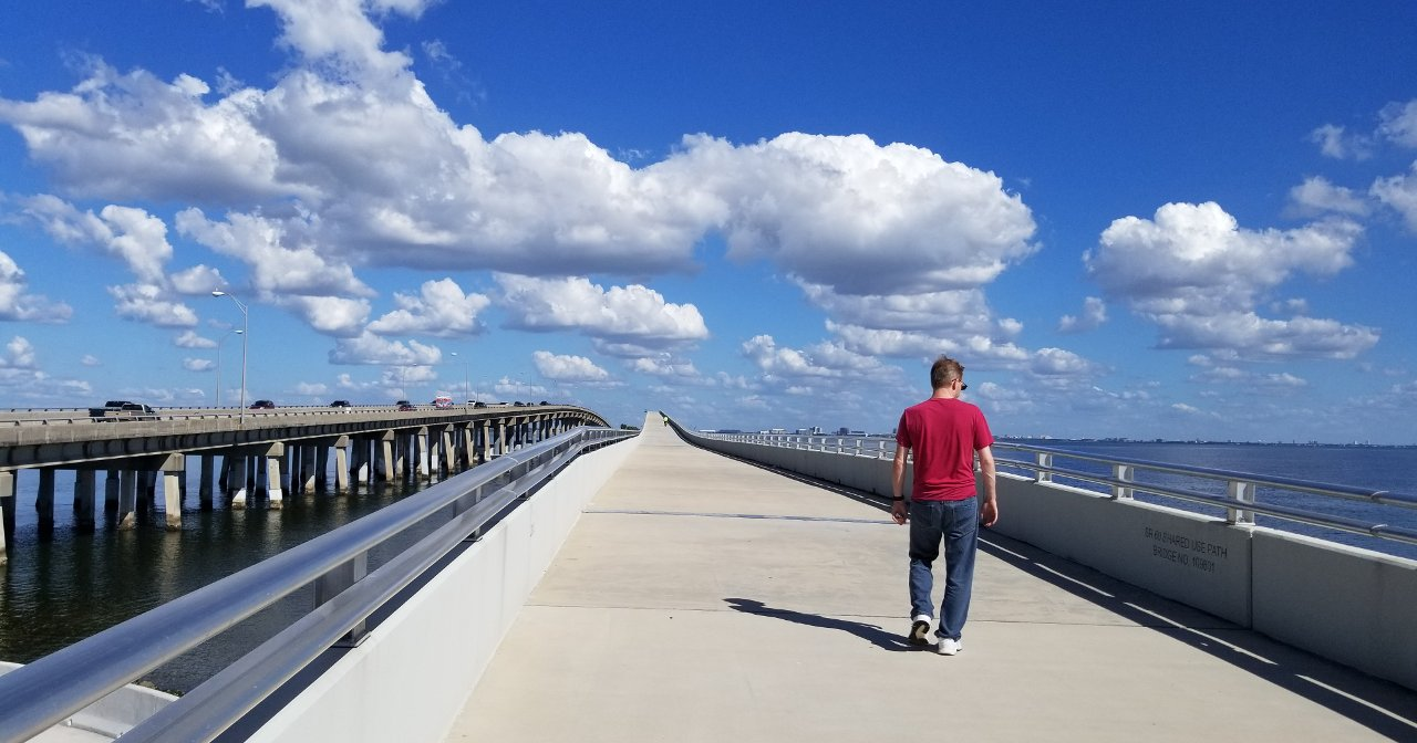 Courtney Campbell Causeway Tampa Florida walkway