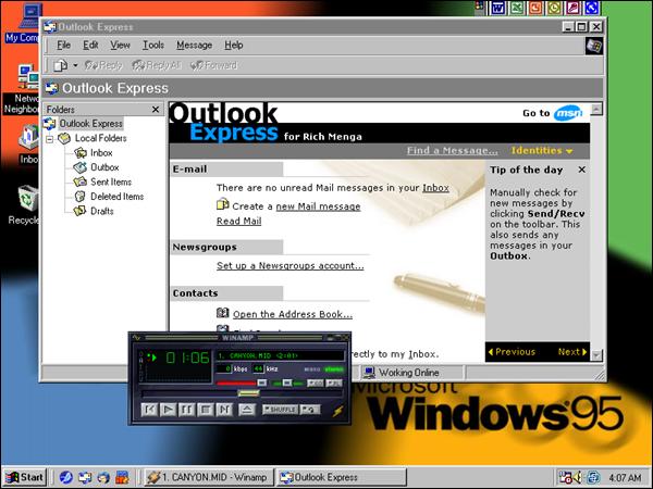 Windows 95 Screen Shot 2014